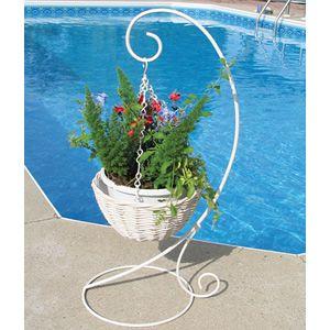 Hanging Basket Stand White Metal Plant Hangers Hanging Basket Stand Plant Hanger