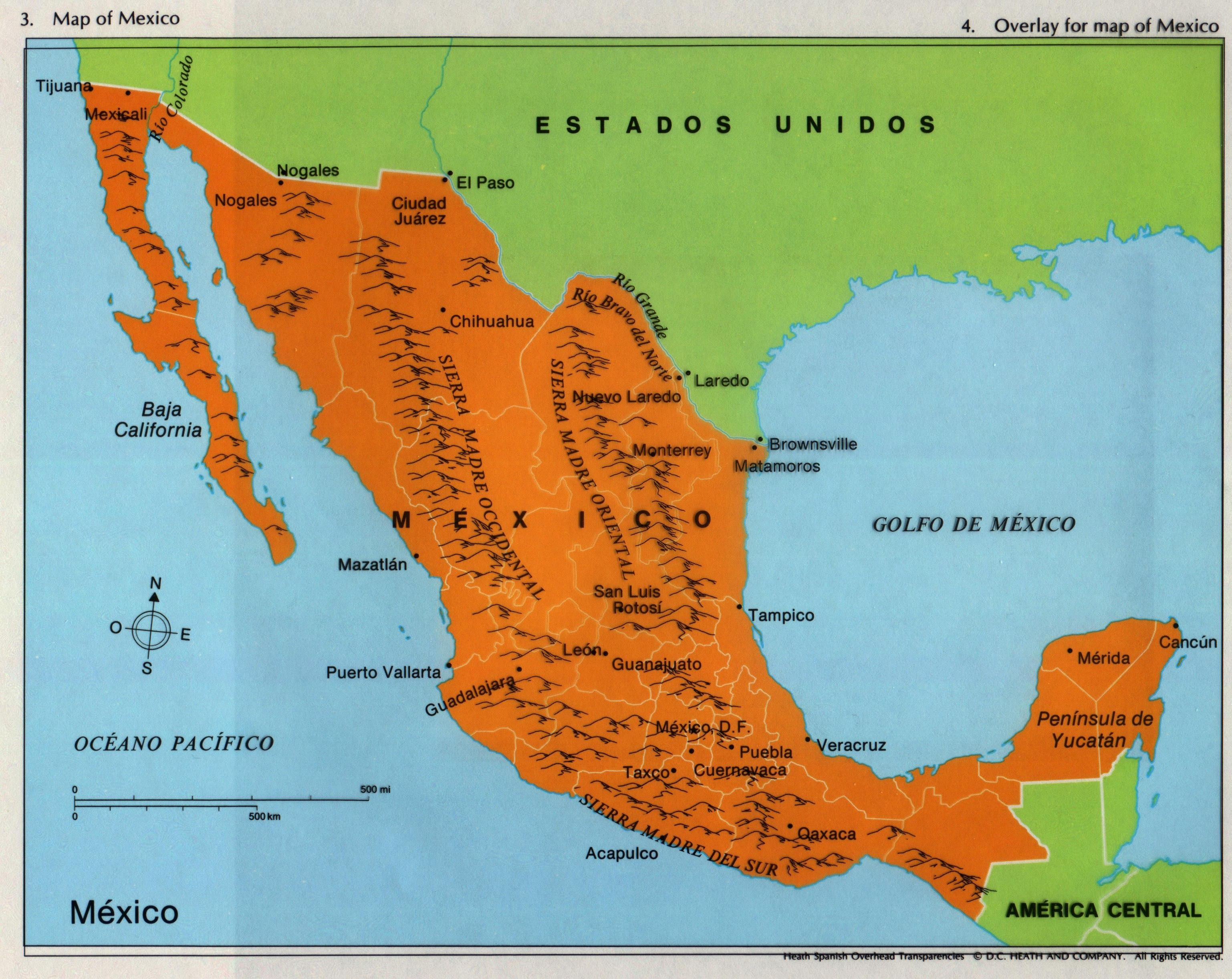Mexico Golfo De Mexico Geografia Tijuana