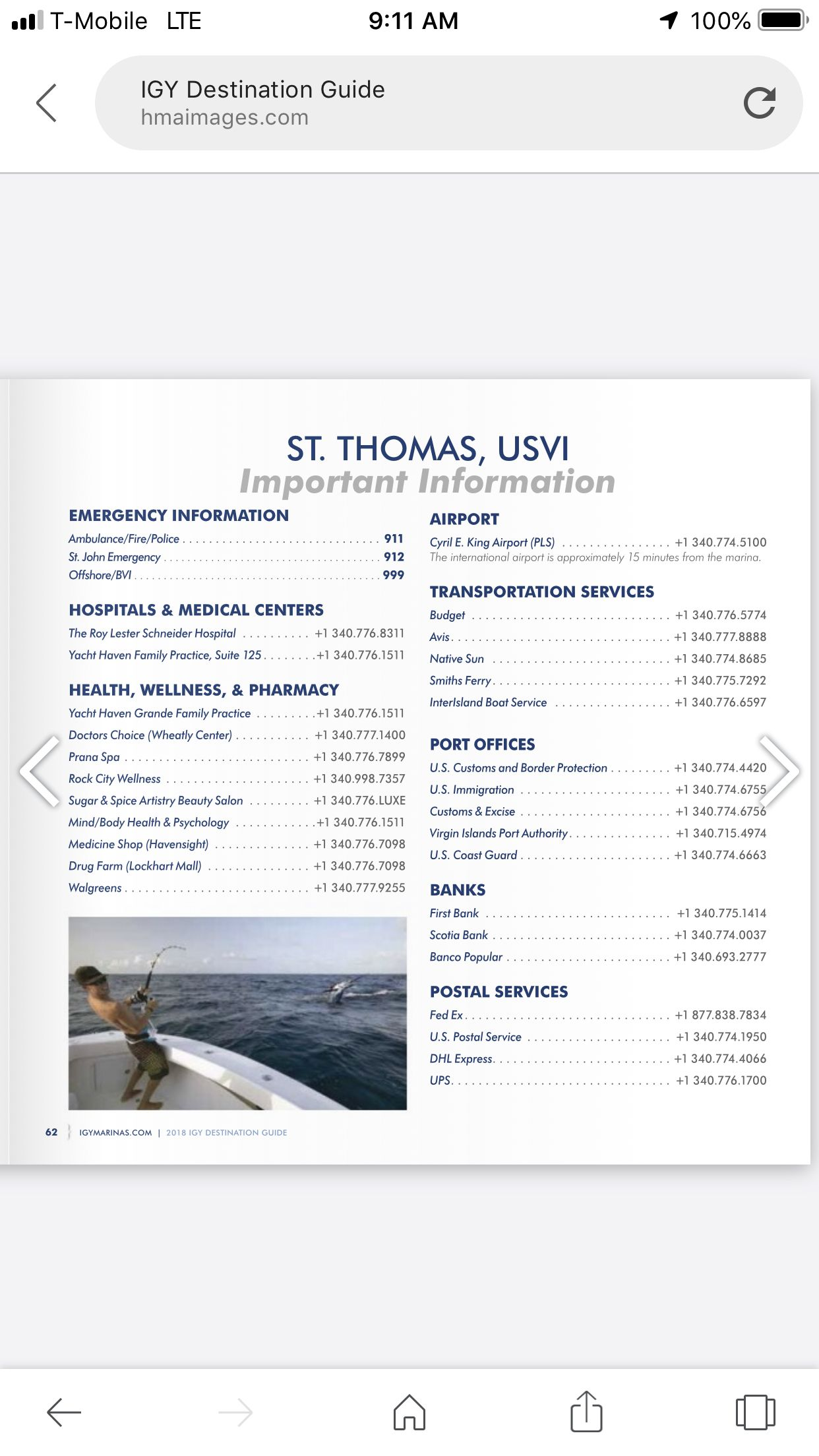 Important phone numbers in saint thomas real estate
