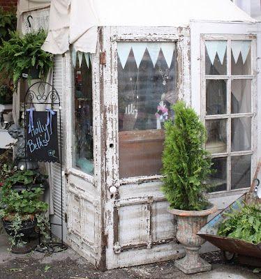 old doors, windows and pendants = charming