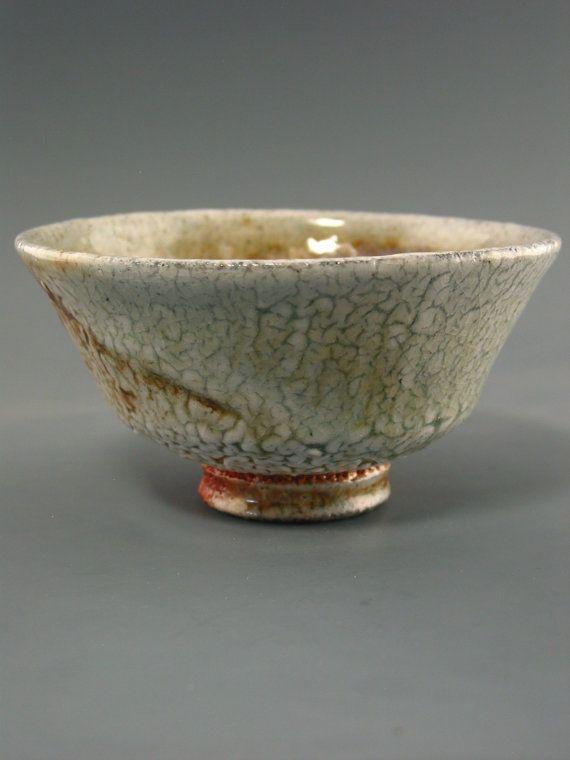 Matcha Chawan, woodfired stoneware with crawling shino, creek clay and natural ash glazes, Shawn McGuire