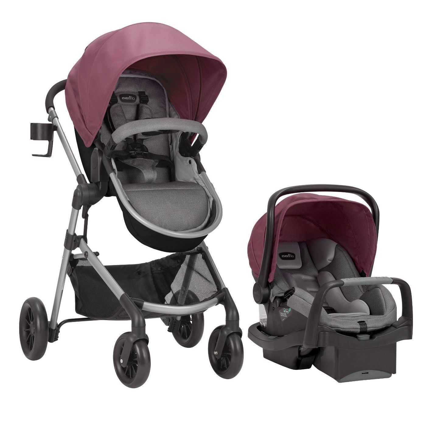 Evenflo Pivot Modular Travel System with SafeMax Infant