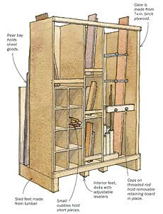smarter lumber rack fine woodworking workshop lumber storage in rh pinterest com