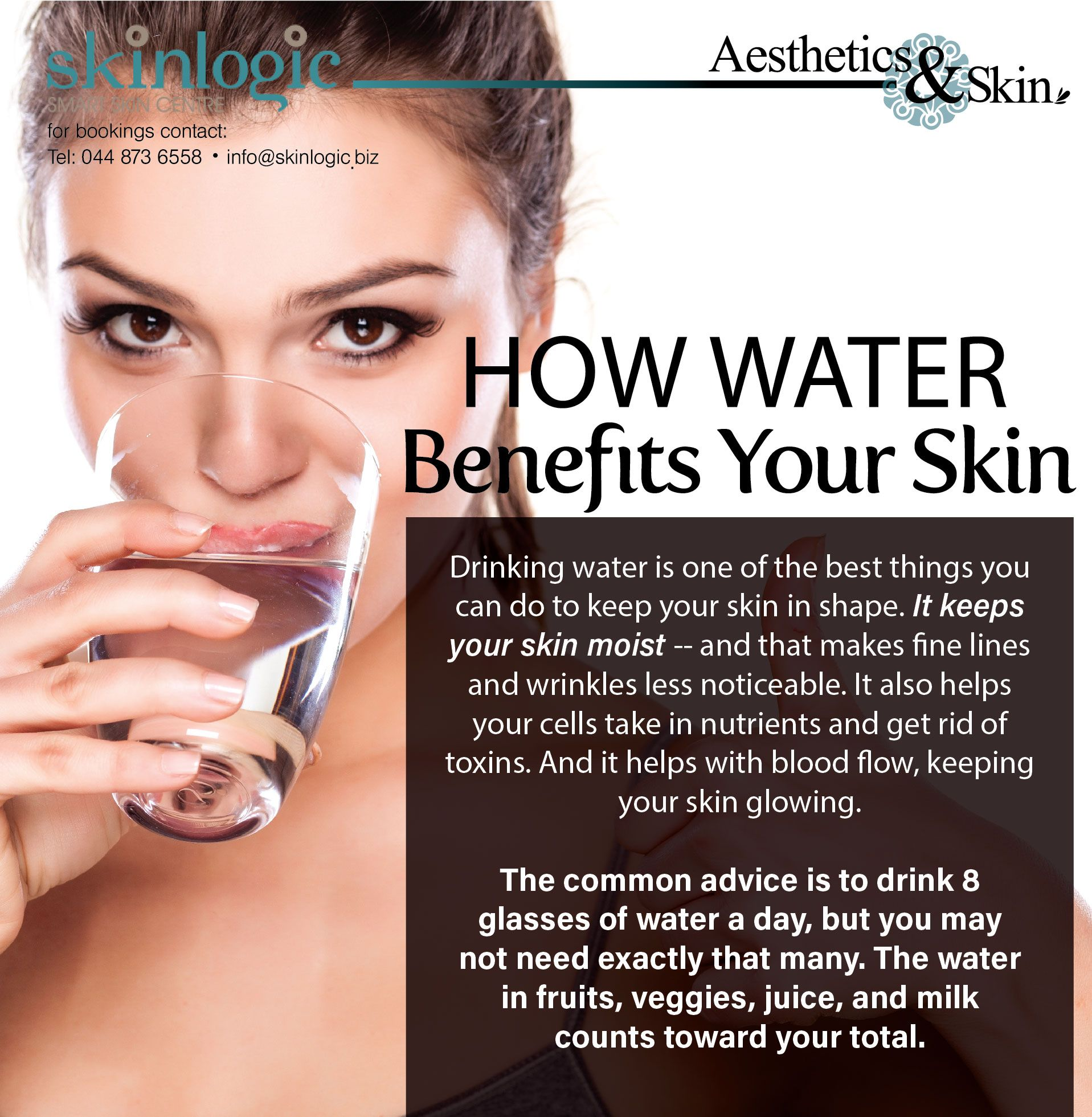 How Water Benefits Your Skin Drinking Water Is One Of The Best Things You Can Do To Keep Your Skin In Sh Detox Your Body Water Aesthetic Homemade Detox Drinks