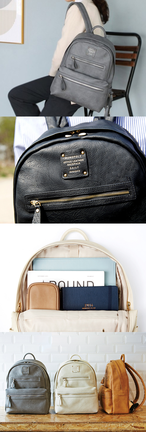 Monopoly Daily Leather Backpack