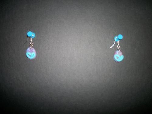 purple tab earrings