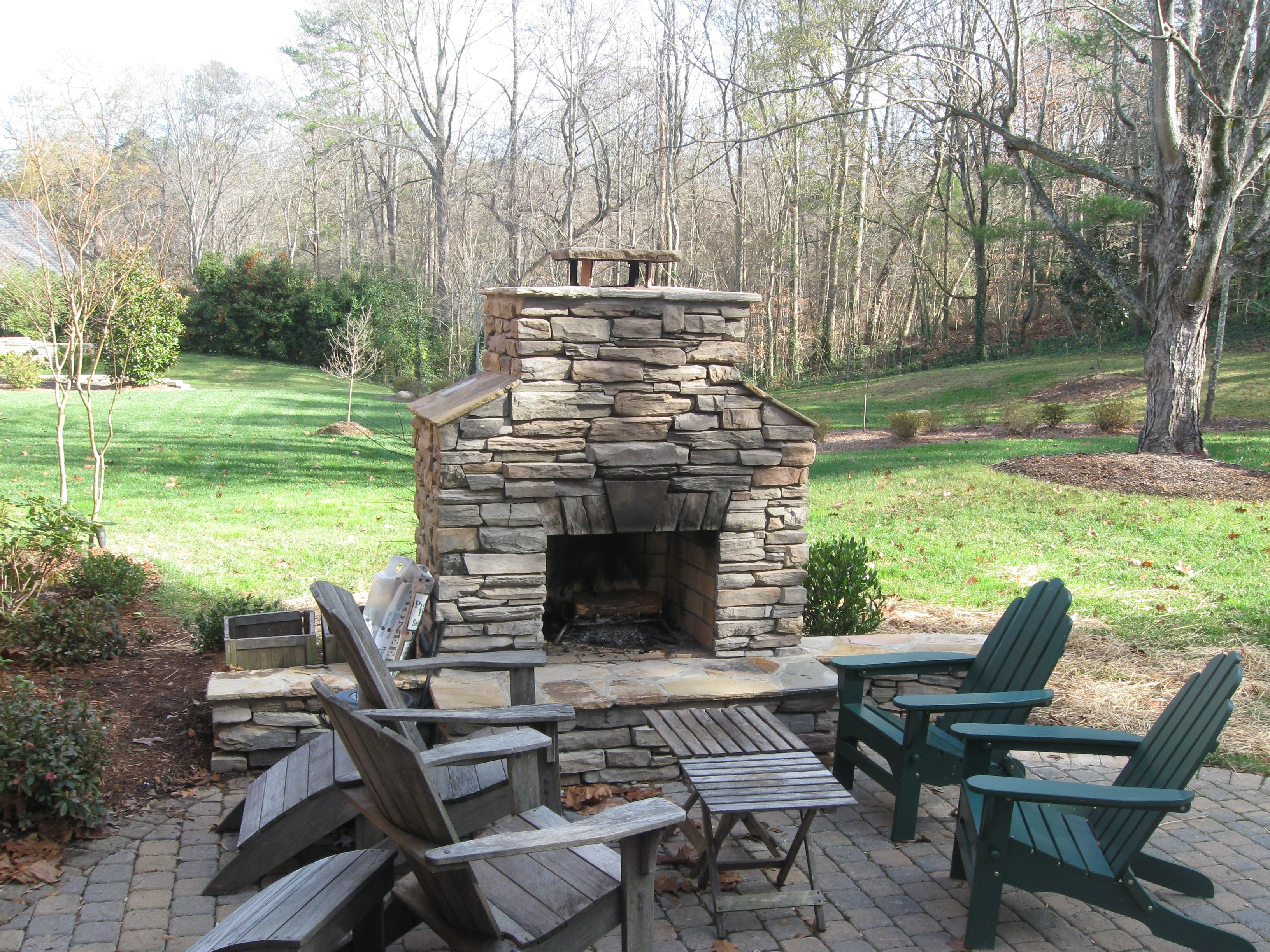 Patio Ideas With Fireplace Easy Craft