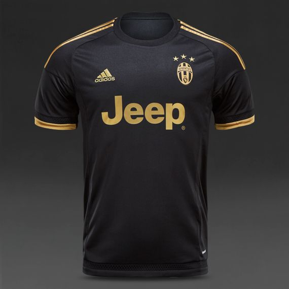 cheap for discount 22e67 d321c adidas Juventus 15/16 3rd Shirt - Black/Dark Football Gold ...