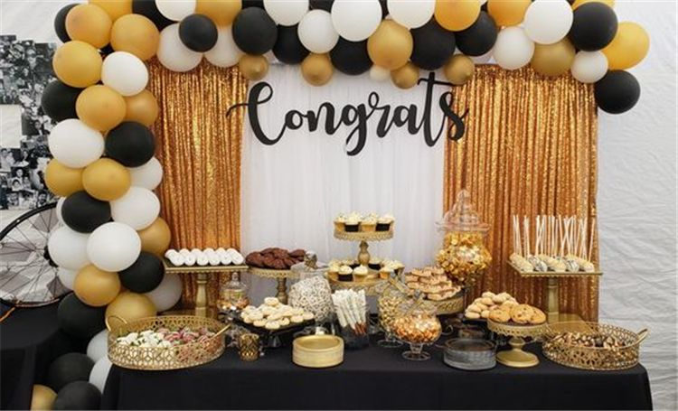 Creative Graduation Party Decoration Ideas You Will Like Graduation Party High Sch Graduation Party Decor Graduation Party Centerpieces Gold Graduation Party