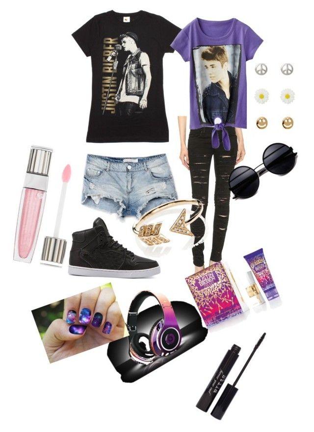 """""""Fashionnnnn!!!"""" by aranzaortiz ❤ liked on Polyvore featuring Justin Bieber, Blank Denim, Supra, Bershka, Alexia Crawford, EF Collection, Stila and Lancôme"""