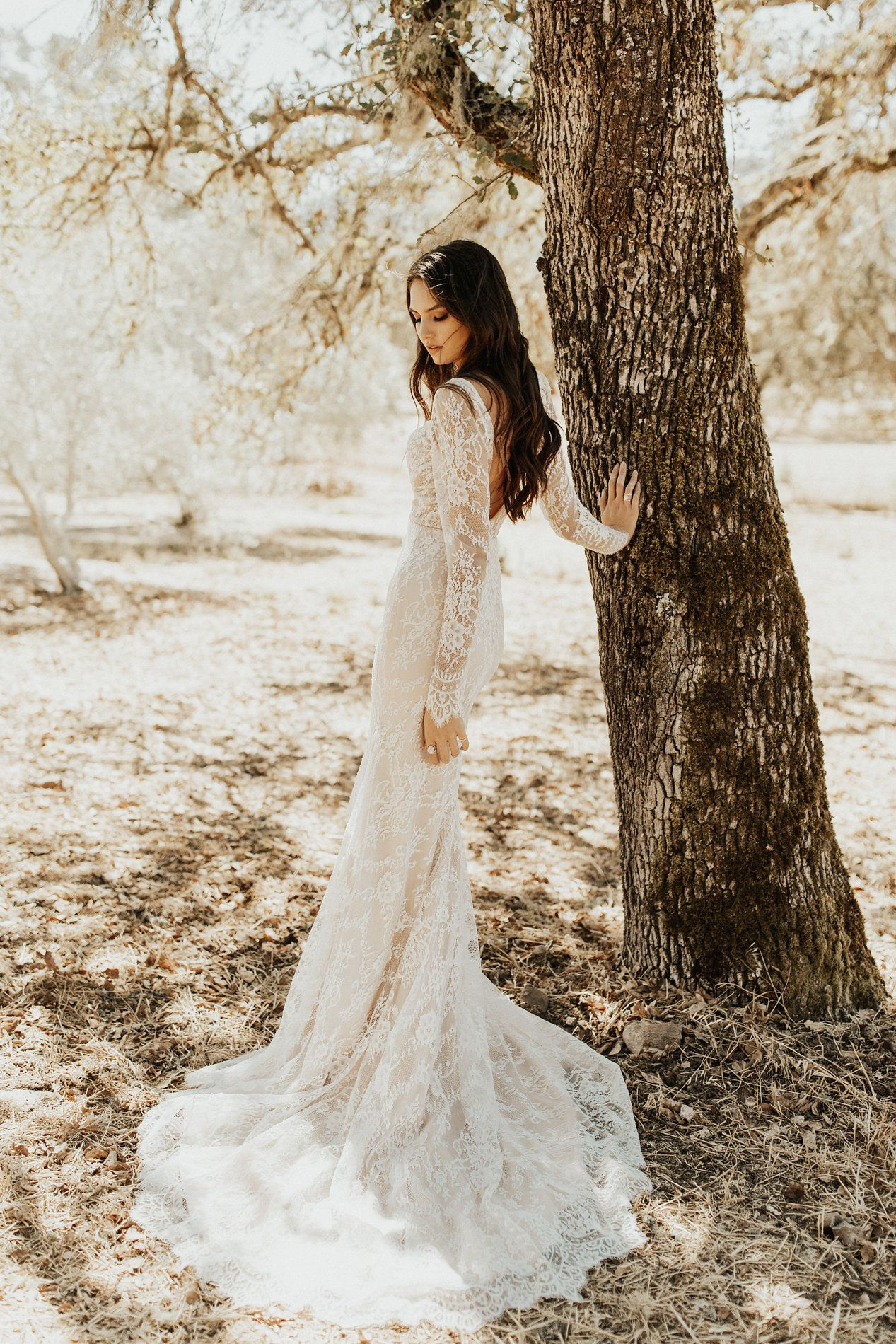 Tara lauren west gown all over lace long sleeve with illusion
