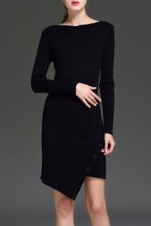 Join Dezzal, Get $100-Worth-Coupon GiftBoat Neck Asymmetric Knitted DressFor Boutique Fashion Lovers Only: Designer Collection·New Arrival Daily· Chic for Every Occasion