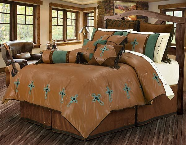 Best Western Turquoise And Brown Comforter Set Western 400 x 300