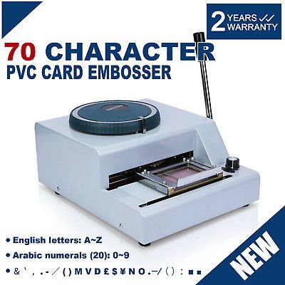 70-Character PVC Card Embosser Stamping Machine Credit ID ...
