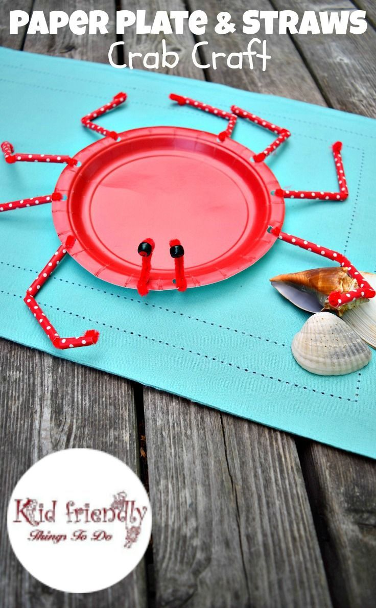 A Paper Plate Crab Craft for Kids to Make & A Paper Plate Crab Craft for Kids to Make | Paper plate crab Crab ...