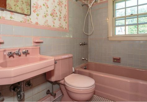 So We Recently Bought A 1950 S Cape Style House With A Pink