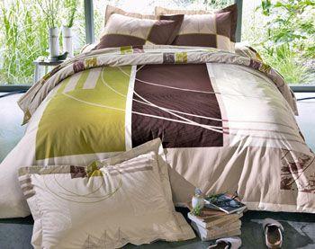 housse de couette motif linge de lit imprim fleurs. Black Bedroom Furniture Sets. Home Design Ideas