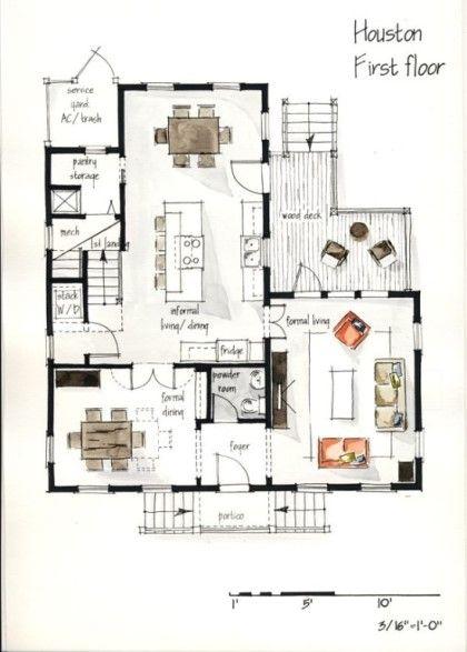 Skizzen Architektur Haus Handzeichnungen Volles Plane Der Duplex