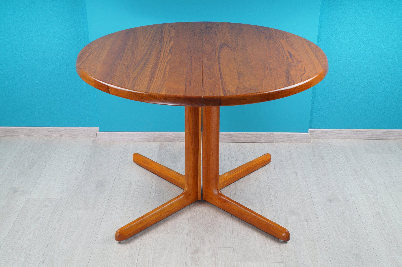 Teak Esstisch Rund 1960er Cj Rosengaarden Danish Design Von