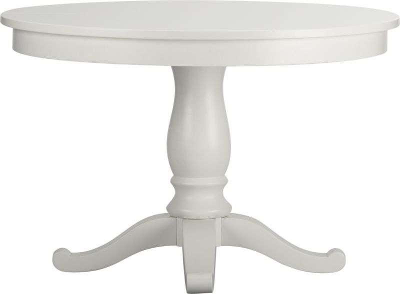 Avalon 45 White Extension Dining Table In Dining Kitchen