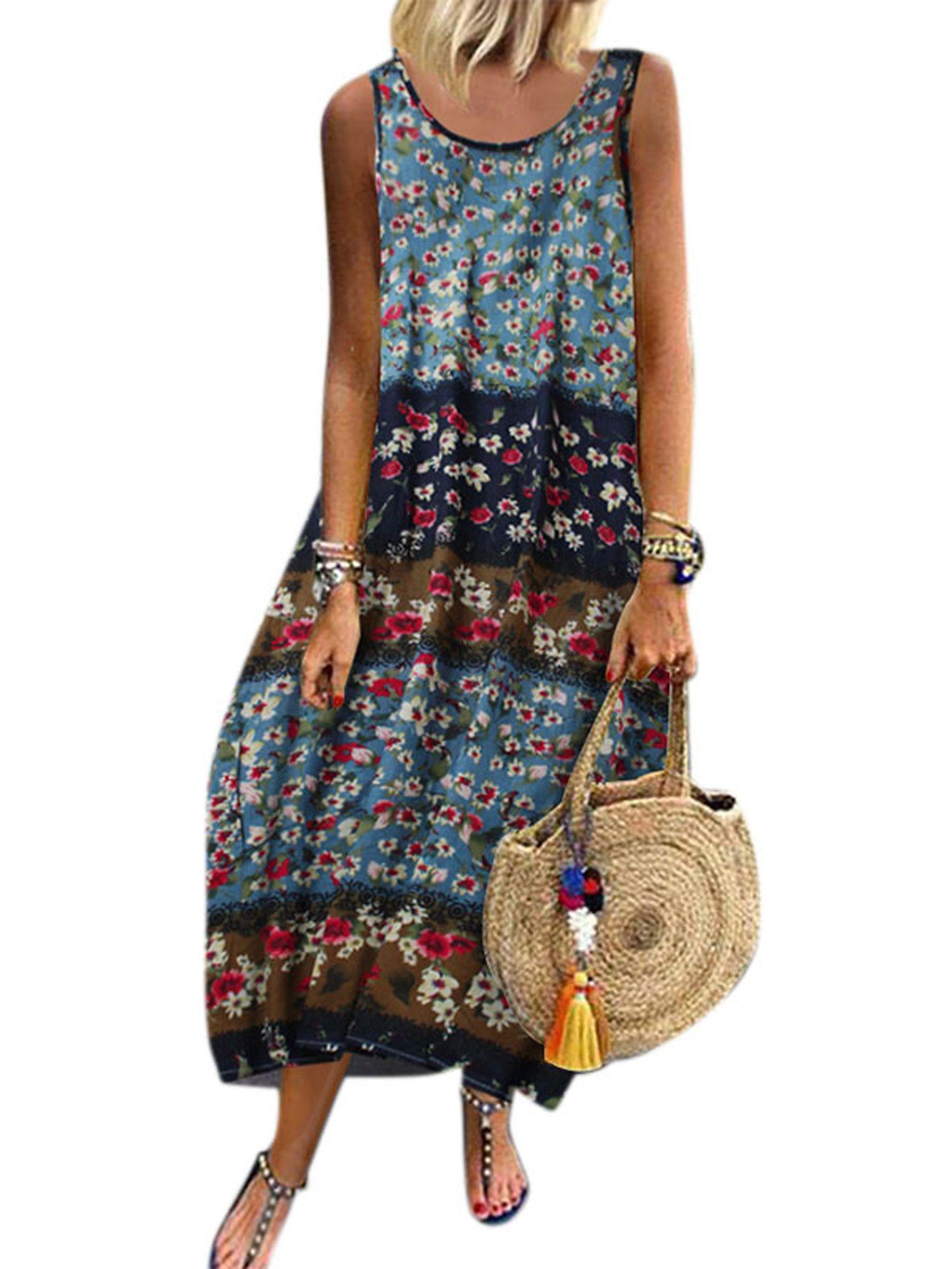 Lallc Women S Summer Plus Size Long Dresses Floral Sleeveless Baggy Kaftan Sundress Walmart Com Plus Size Long Dresses Floral Dresses Long Plus Size Summer [ 2000 x 1500 Pixel ]
