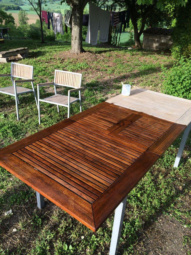 Terrassenmöbel holz  terrassenmöbel holz outdoor tisch erfrischen lasur öl | Outdoor ...