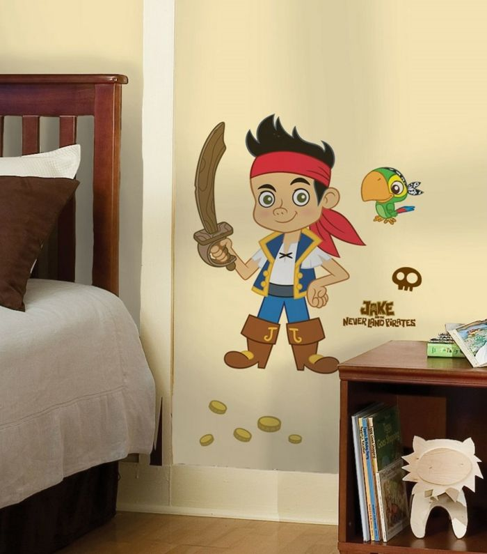 Awesome eine moderne Version von Peter Pan diesmal als Pirat Wanddeko Kinderzimmer