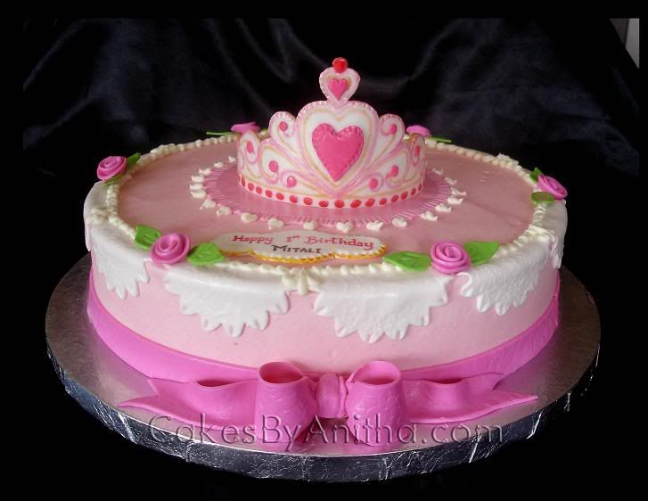 For A Baby Girl S 1st Birthday Cake View The Actual Here