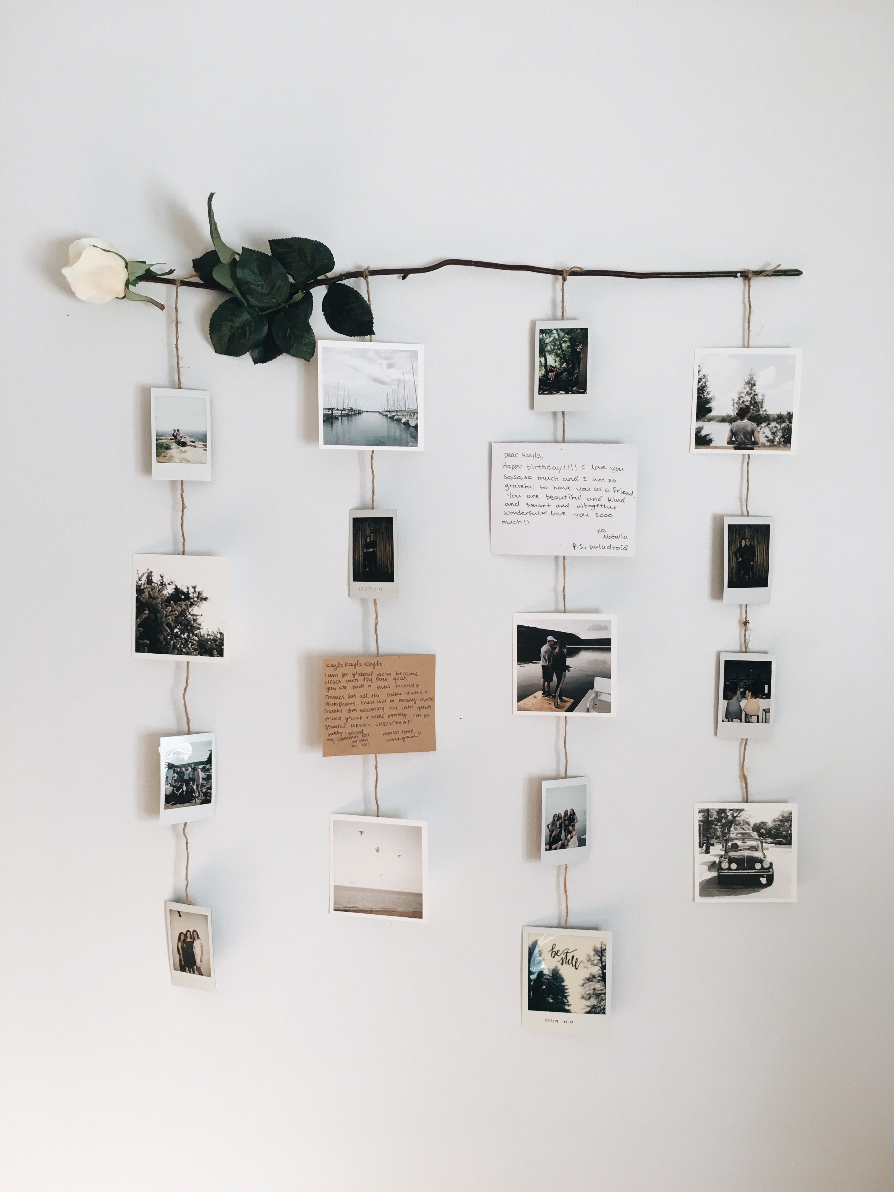 Photo of Flower picture display #picturewallideas Picture wall, polaroids, Polaroid wall,…