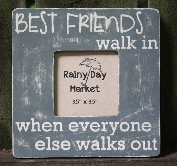 Friendship Picture Frames With Quotes: Best Friends Picture Frame By ARainyDayMarket On Etsy, $18