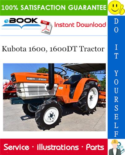Kubota 1600 1600dt Tractor Parts Manual Tractors Kubota Tractor Parts