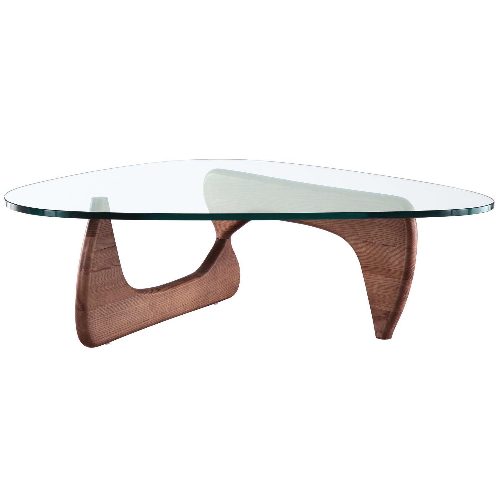Tribeca Noguchi Style Coffee Table In Walnut Noguchi Coffee Table Triangle Coffee Table Solid Coffee Table [ 1600 x 1600 Pixel ]
