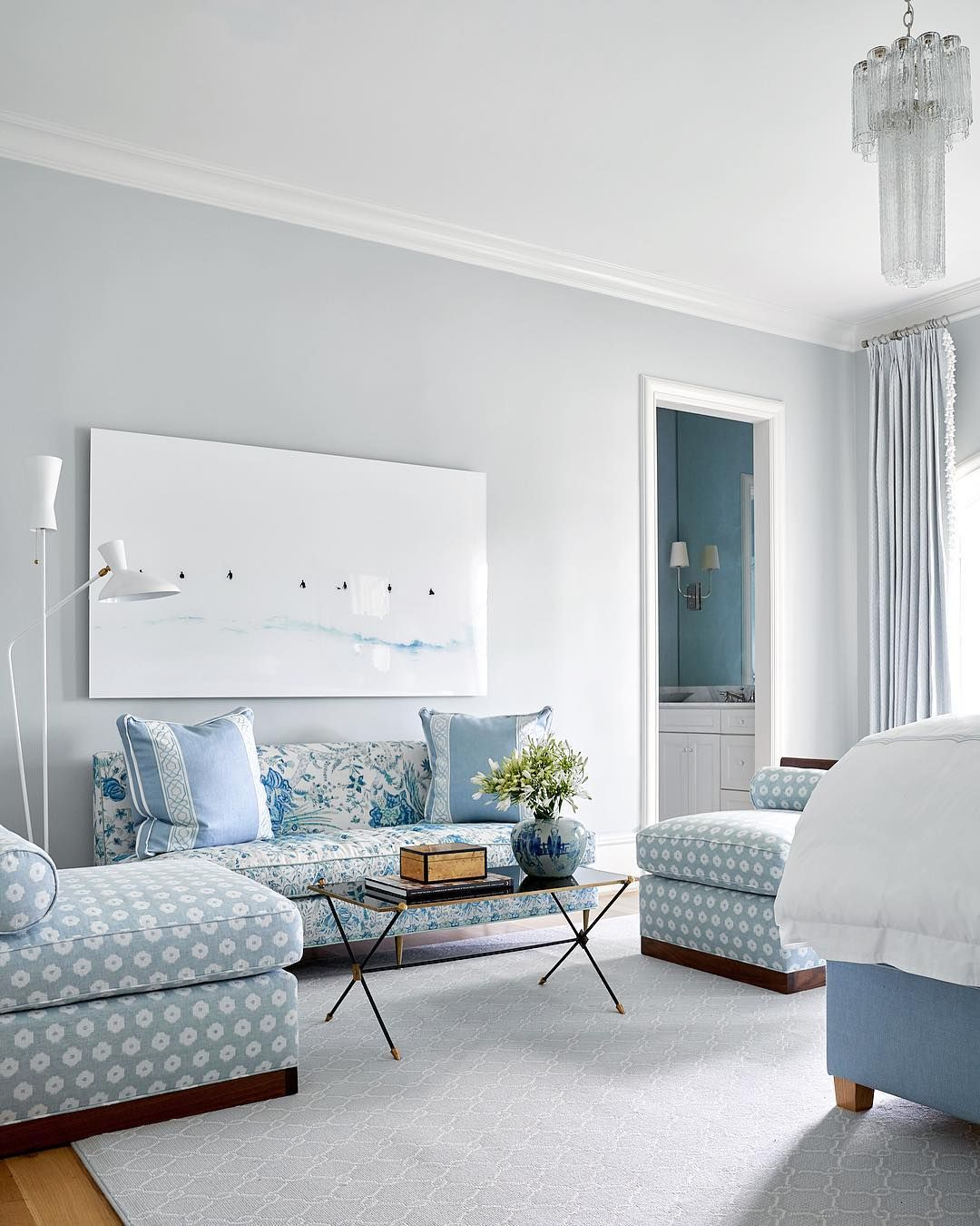 Blue And White Bedroom Design By Collins Interiors Surfer P