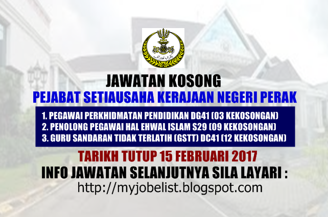 Jawatan Kosong Pejabat Setiausaha Kerajaan Negeri Perak 15 Februari 2017 With Images Convenience Store Products