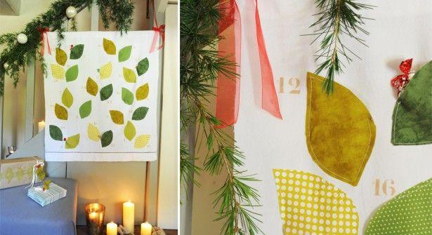 Couture facile de Noël : un calendrier de l'Avent végétal