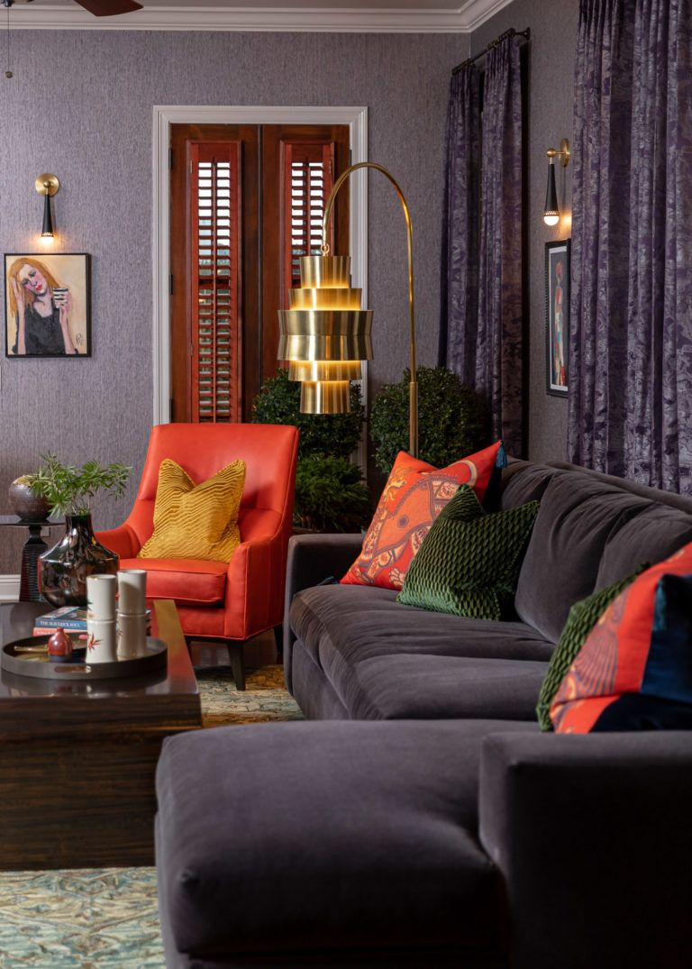 Colorful Rich Moody Downtown Living In Detail Interior