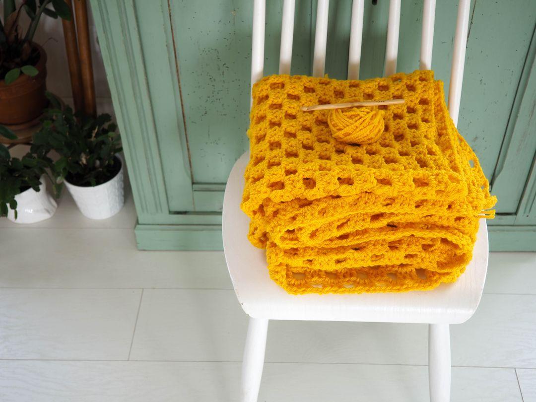 Tutoriel du plaid au crochet jaune pour débutants | Crochet | Pinterest