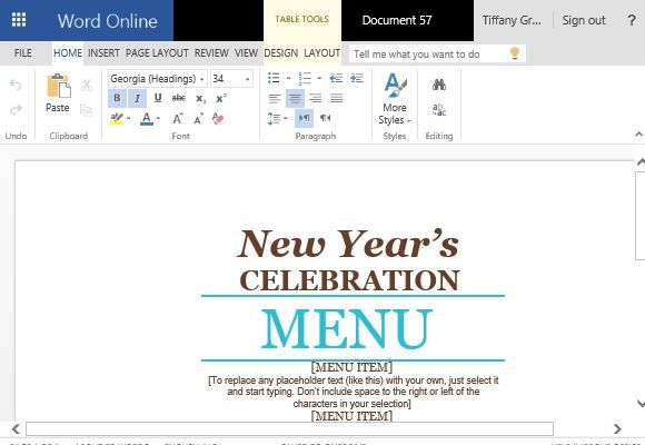 Event Menu Maker Template For Word  Word Templates