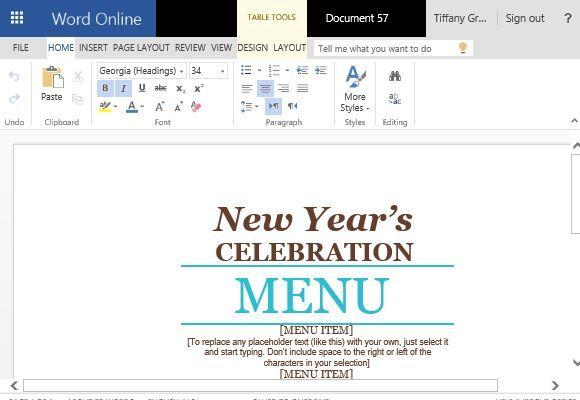 Event Menu Maker Template For Word Word Templates Menu