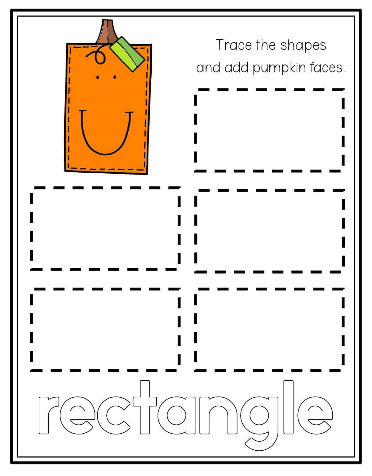 Pumpkin Shape Tracing With Images