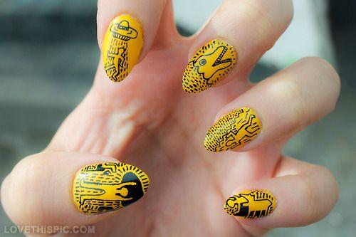 Boom Nails nails yellow