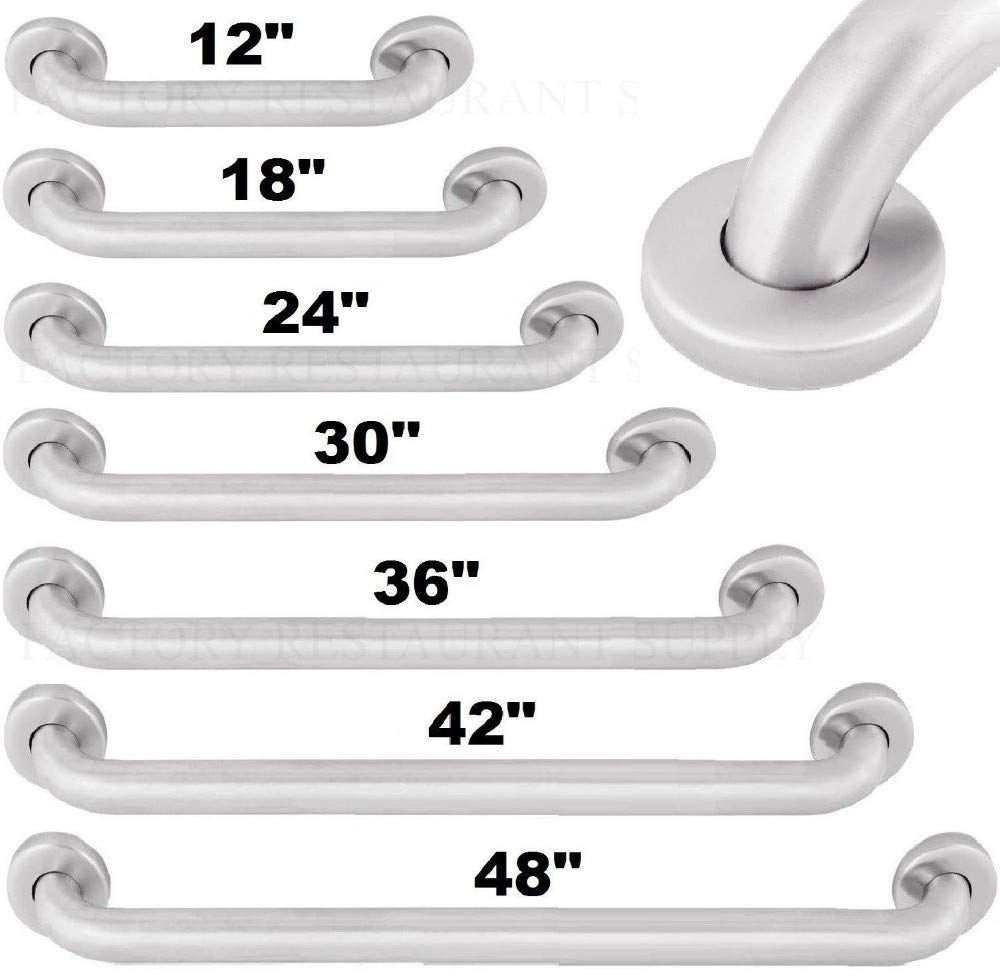 Commercial grab bar stainless steel bath bathroom safety
