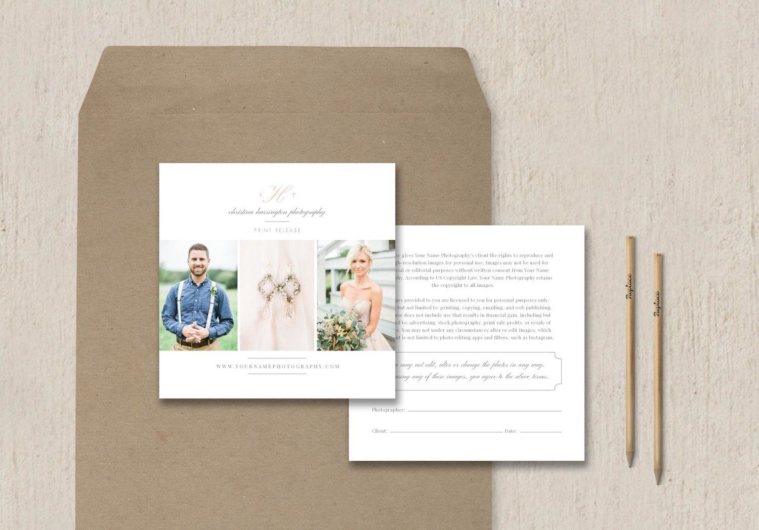 Photography Print Release Template  Eucalyptus  Template