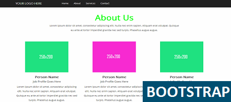 Rectangle About Us Template Binary Theme