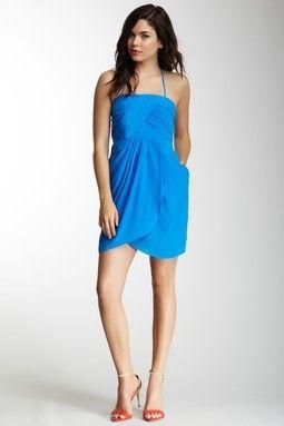 Greylin: Silk Halter Dress