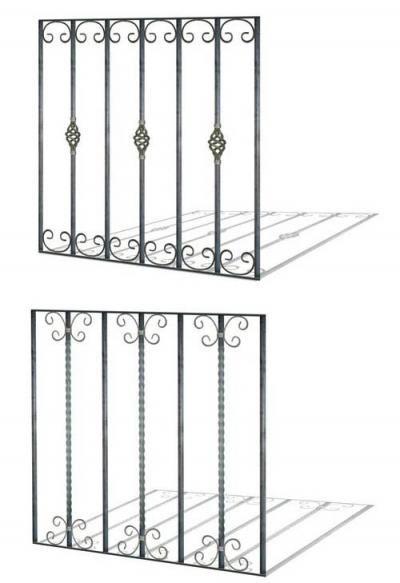 Protecciones para ventanas hierro forjado rejas for Verjas para puertas