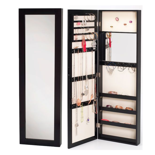 Armoire bijoux avec miroir bricolage pinterest for Bijoux armoires ikea