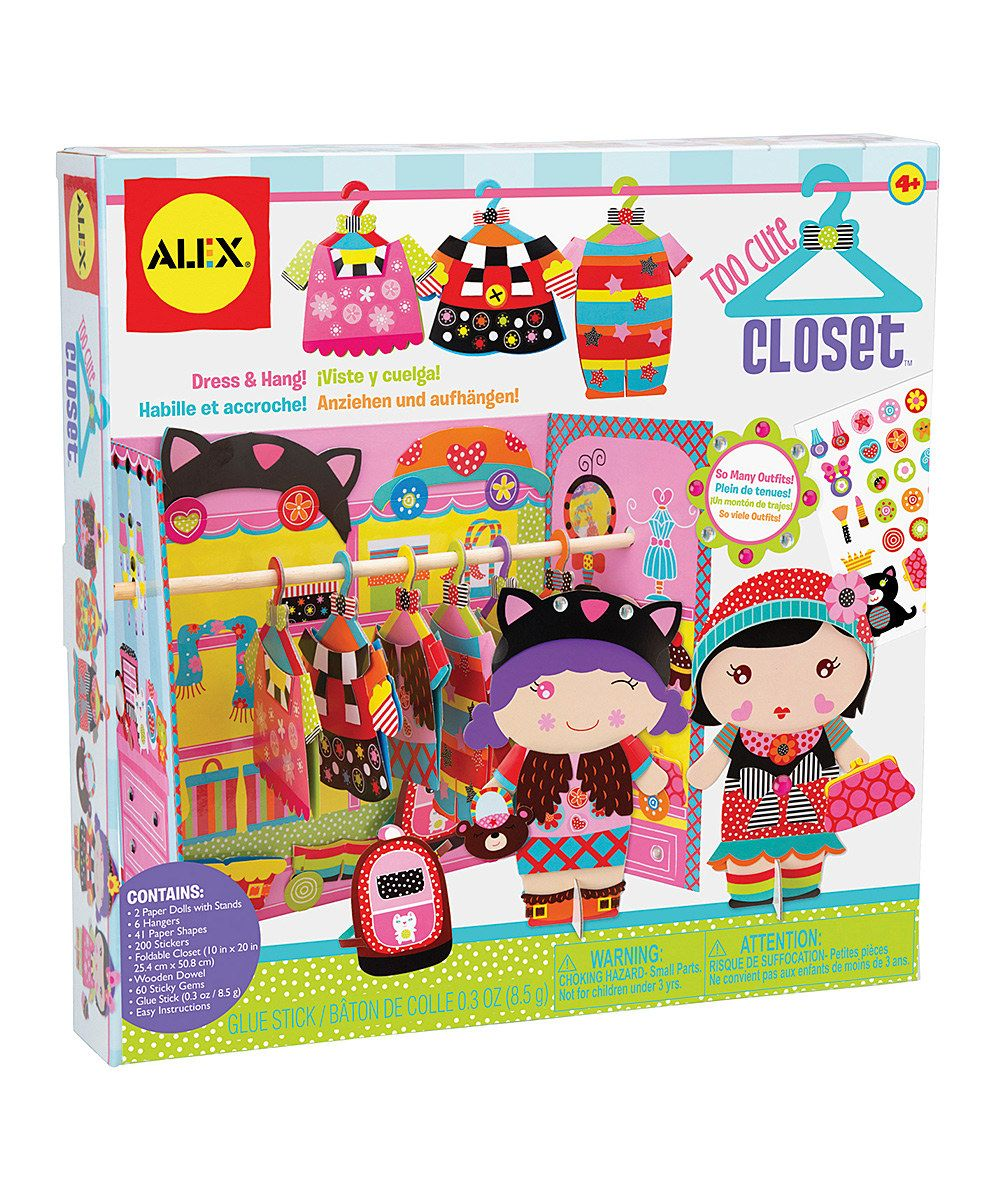 Take a look at this Too Cute Closet Paper Doll Set on zulily today!