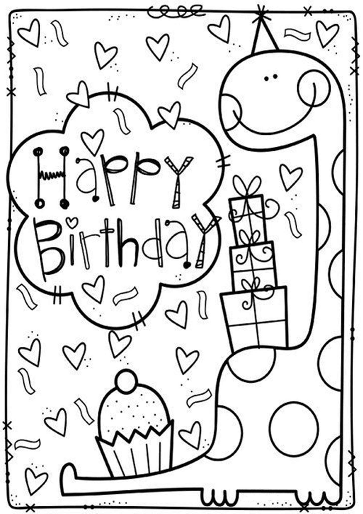 Free Easy To Print Happy Birthday Coloring Pages Birthday Coloring Pages Happy Birthday Coloring Pages Dinosaur Coloring Pages