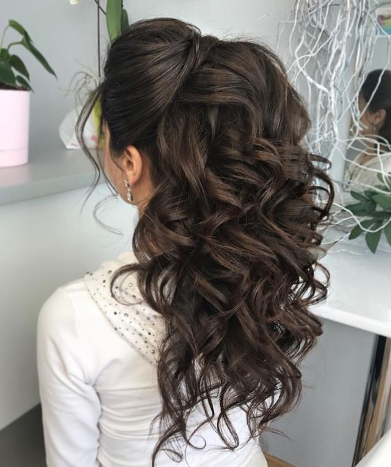 10 Stunning Hair Inspirations For All Those Kinds Associated With Special Day Bridesmaid Hair Brunette Long Hair Styles Hair Lengths